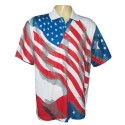 Men's Pique Performance Flag Shirt